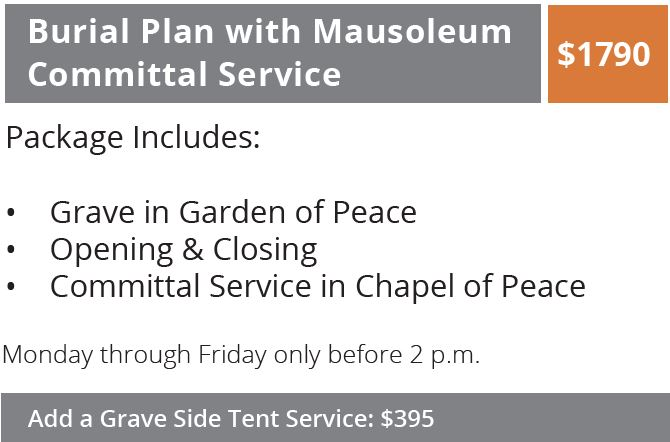 Burial Plan with Mausoleum Committal