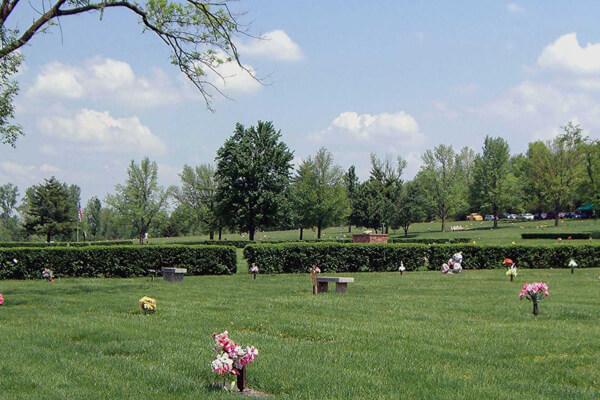 Cemetery in Evansville, Indiana
