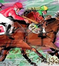 horse-racing-over-grunge-background-260nw-603105977