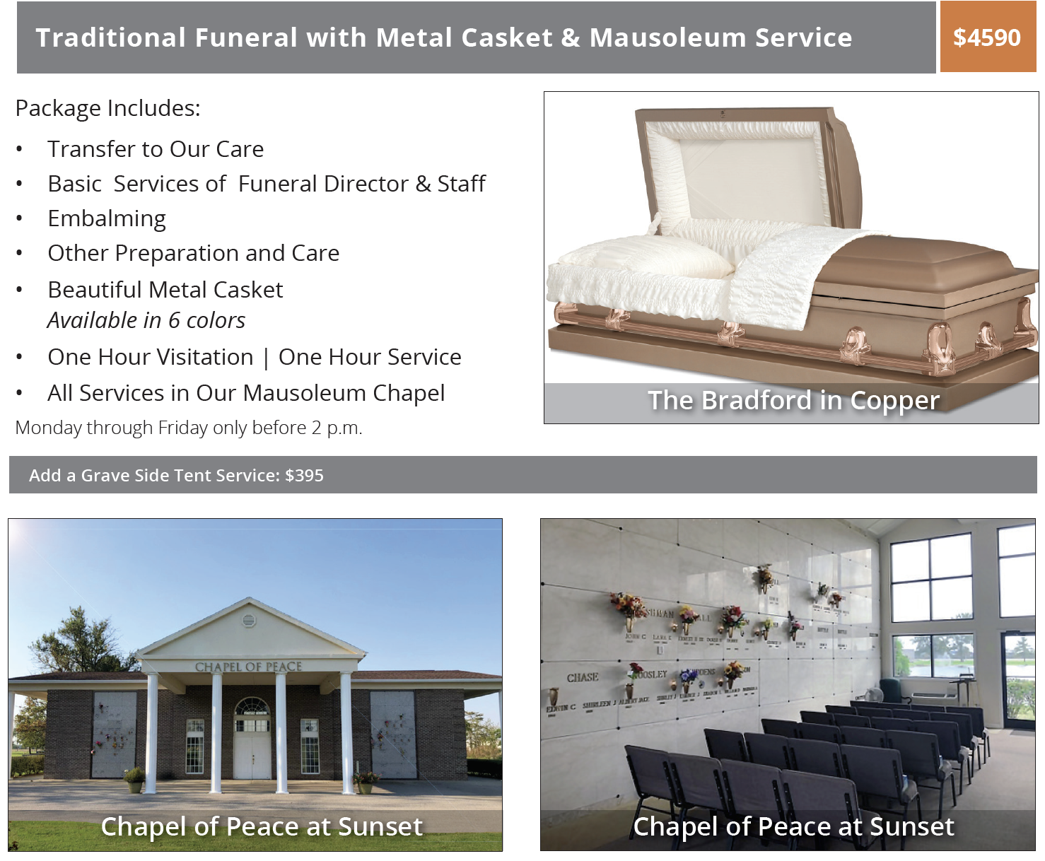 Evansville Low Cost Funeral - Lower Cost Funeral